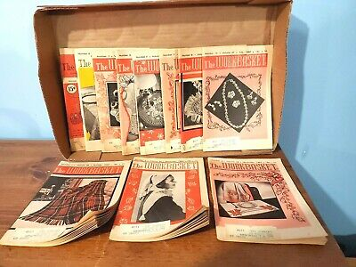 BOOK: The WORKBASKET, Home & Needlecraft magazines, LOT OF 11 from 1955-1962 VTG