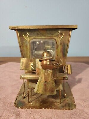 """MUSIC BOX: Copper Brass Tin, PIANO PLAYER """"The Sting/Entertainer"""" APEX Hong Kong"""