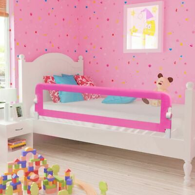 vidaXL Toddler Safety Bed Rail Pink Baby Cot Protective Gate Guard Protection