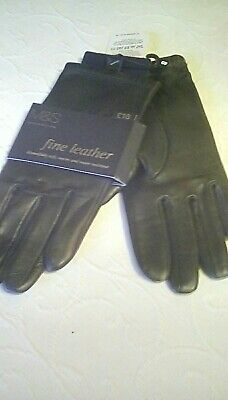 Marks and spencer leather gloves Ladies size small, black