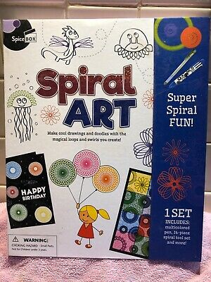 Spiral Art Kit - Spirograph Set including Stencils, Wheels, Marker...