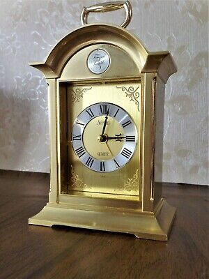A beautiful Brass Carriage Clock by Acctim with an alarm function.