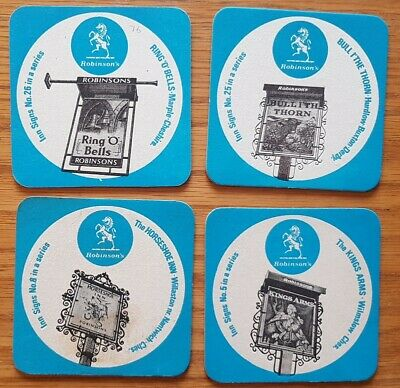 Four 1960's Robinson, Stockport Inn Sign Beermats