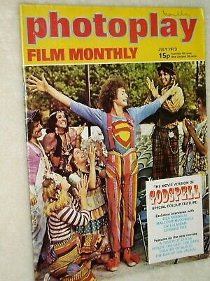 PHOTOPLAY film magazine.  (July 1973)..GODSPELL   cover...FREE POSTAGE