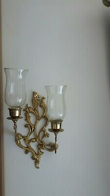 Vintage Solid Brass French Rococo Style Wall Sconce
