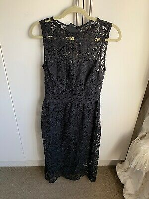 M&S Autograph Stunning Black Lace Dress size 10 NWT Evening/Christmas/Party