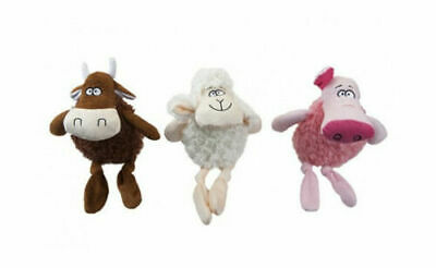 Crufts Squeaking Dog Toy - Choose Design from Cow, Pig or Sheep