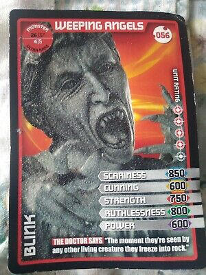 Ultra Rare Doctor Who Monster Invasion Weeping Angels Blink Card #56