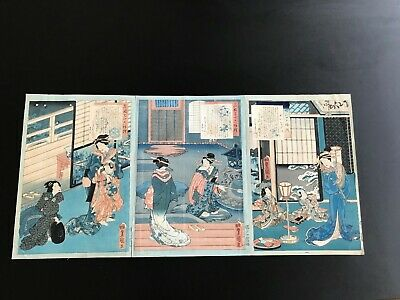 Utagawa Kunisada 3 Prints from Excellent Selection of Thirty-SixNoted Courtesans