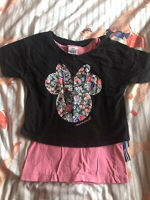 Disney Minnie Mouse At George Crop Top And Vest Girls Age 5-6
