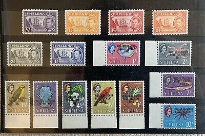 St Helena Nice MM Collection To 1 Shilling