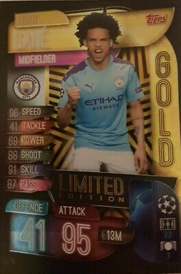 Topps Match Attax Champions League 2019 2020 limited Edition LE15 Sane gold City
