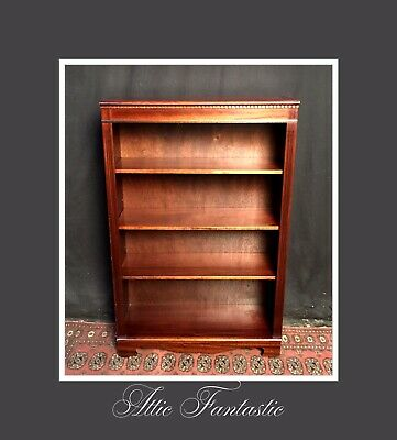 Mahogany Inlaid Traditional Library Bookcase Adjustable Shelves Georgian Style
