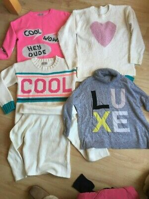 Gorgeous Bundle Girls Jumpers Sweaters Age 9-10 Yrs Next River Island