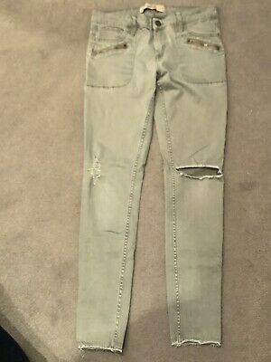 Hollister khaki jeggings Size 3 W26 approx 12 years