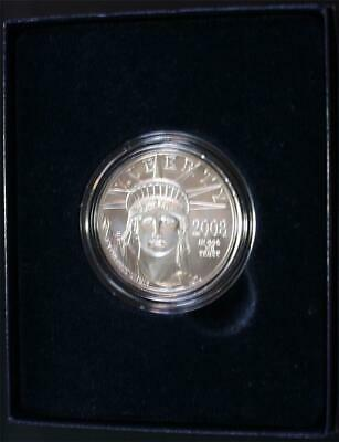 2008-W $100 One Ounce .9995 Burnished Platinum Eagle Gem Brilliant Uncirculated