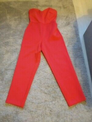ASOS Red Jumpsuit Size 8
