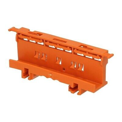 Mounting carrier for DIN-35 rail and screw 221 Series WAGO Orange fuse accessory