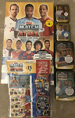 Match Attax 2019/20 Bundle Calendar/multi Pack/mega/mini Tins 19/20 Season Topps