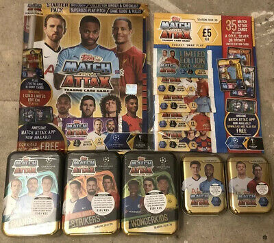 Match Attax 2019/20 Bundle Starter/multi Pack/mega /mini Tins 19/20 Season Topps
