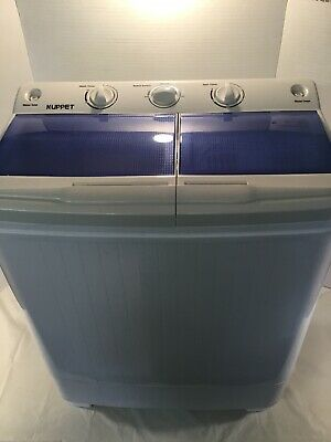 17LBS Portable Mini Compact Washing Machine Twin Tub Laundry Washer Spiner Dryer