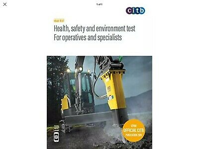 CITB Health, Safety And Environment Test For Operatives Specialists 2019 book