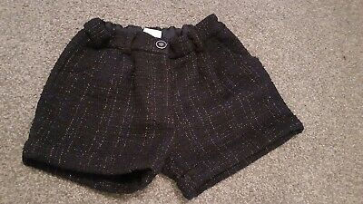 Girls sparkle tweed christmas party shorts..age 6/7 adjustable