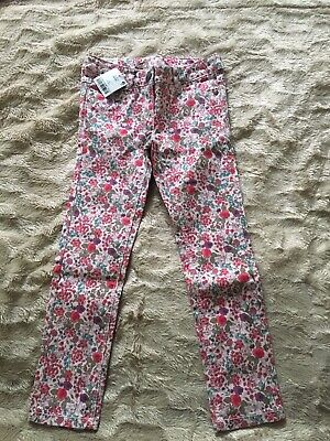 BNWT Next Girls Floral Skinny Jeans Trousers 6 Years Old