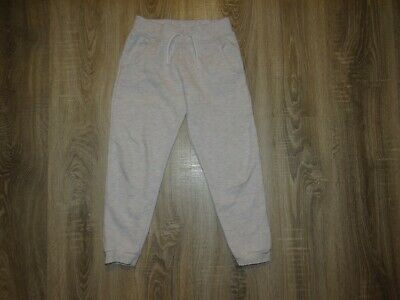 Girls joggers/ tracksuit pants/ bottoms Grey size 7-8 years 128cm