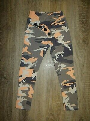 Girls QBA KIDS joggers/ bright camouflage pants/ baggy trousers size 6-7-8YEARS
