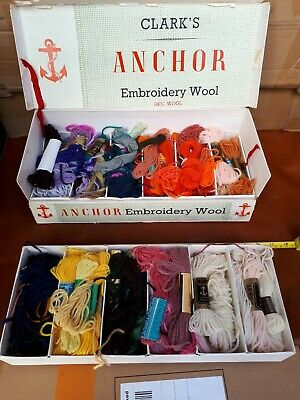 Vintage Clarks Embroidery Threads / Wool Boxed collection.