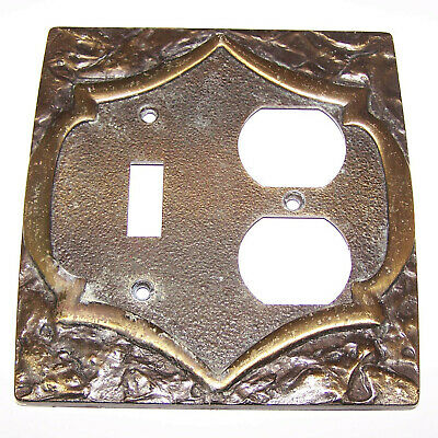 Vintage 1970's Antique Amerock Ornate Brass Light Switch Wall Plate Outlet Cover