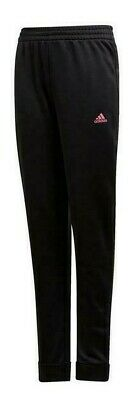 BNWOT adidas Girls Pes Tracksuit Bottoms Joggers Black 7 8 Years