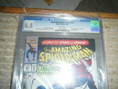 The Amazing Spider-Man #361 (Apr 1992, Marvel) CGC 6.5--1st Carnage