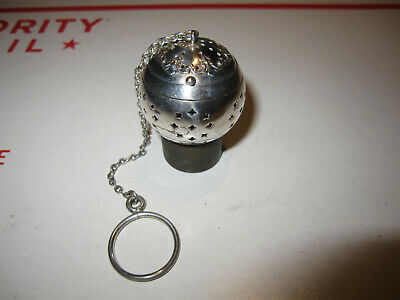 Antique Very Nice Sterling Silver Tea Ball Tea Infuser Very Good Condition