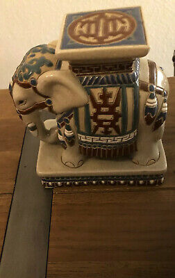 Gom Elephant Plant Stand With Lovely Enamel 18 Cm