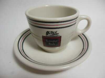 1985 Burlington Route Way of the Zephyrs Restaurant Cup Saucer Sterling China 2