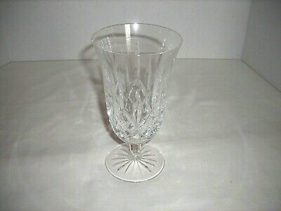 Waterford Crystal Lismore Etched Signature Footed Water Glass Goblet!
