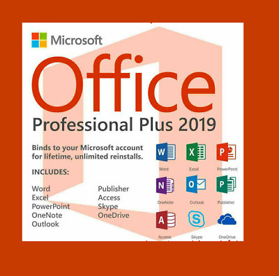 Lifetime Office 2019 Pro Plus 32/64 bit key 1 PC🖥 orLaptop💻Instant delivery 📨