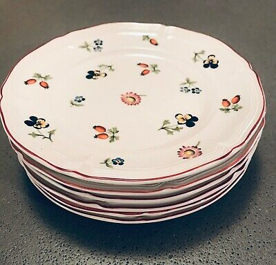 6 Bread and Butter Plates Villeroy & Boch PETITE FLEUR