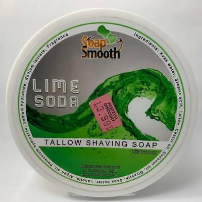 Lime Soda Shaving Soap - by Soap Smooth (Pre-Owned)