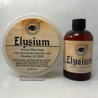 Elysium Shaving Soap and Aftershave Splash - by Storybook Soapworks (Pre-Owned)