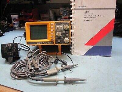 Tektronix 222PS Digital Oscilloscope, Probes,Manual, Power Supply.