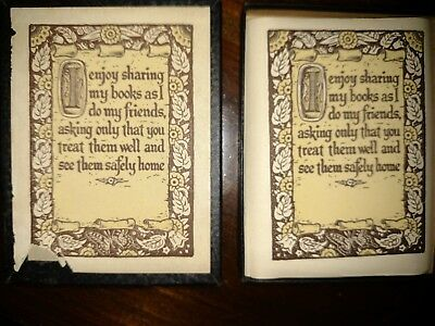 Vintage Box Antioch Bookplates 40 plus in box Sentiment