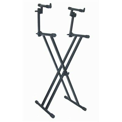 Quiklok T22 2 Tier Double Braced Keyboard Stand