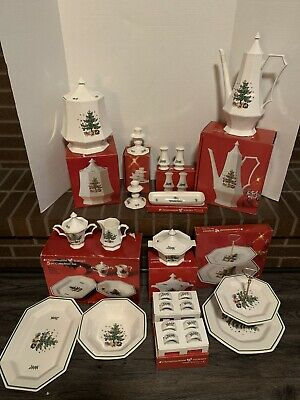 NIKKO CHRISTMASTIME China pattern 108 piece set Service  for 8 w/linens