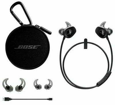 Bose SoundSport Wireless Neckband Headphones - Black with Case