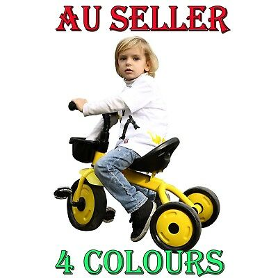 3 Wheel Bike Bicycle Tricycle Trike Kids Toddler Outdoor Fun Toy Christmas Gift