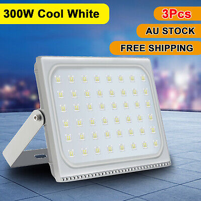 3X 300W Slim LED Flood Light Cool White Outdoor Yard Floodlights Security Lamp