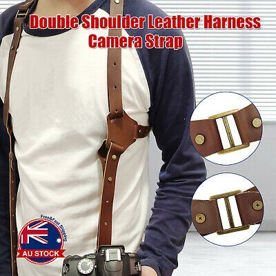 Leather Camera Harness Accessories One/Dual Shoulder Comfort Camera Strap  D